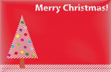 Biglietto natalizio disegnato stile penna