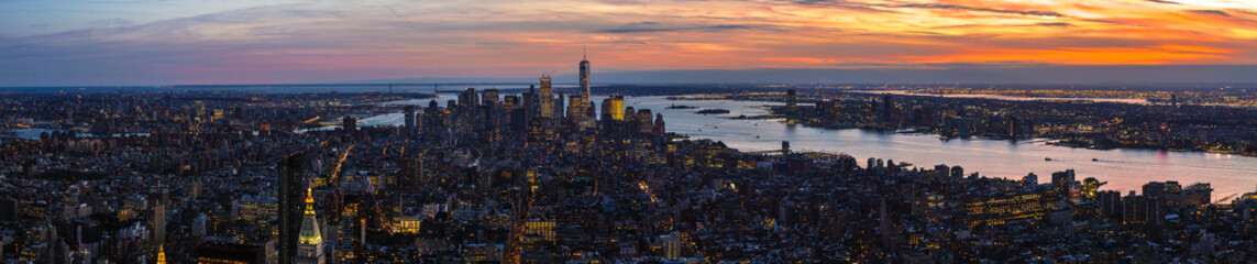Foto op Plexiglas New York New York sunset from Empire State