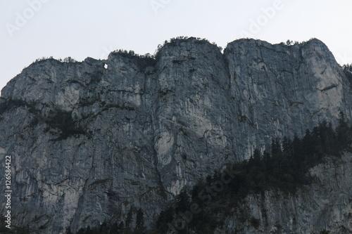 Klettersteig Mondsee : Wall of drachenwand klettersteig from austria camp near mondsee
