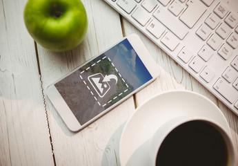 Smartphone Next to Apple and Coffee Mug Mockup