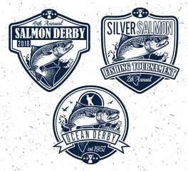 Fishing Vector Logo. Salmon Fish icon.