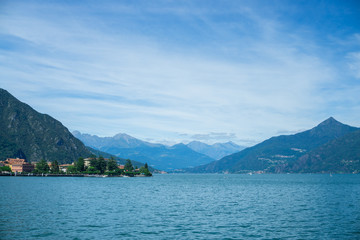 Mountains in Italy near the lake Como in summer