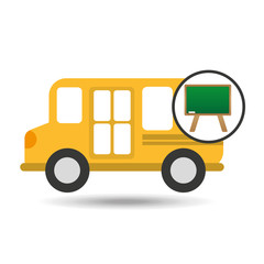 school bus icon blackboard graphic vector illustration eps 10