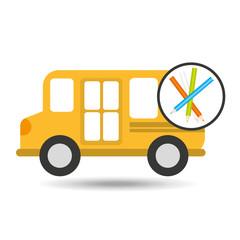 school bus colors icon graphic vector illustration eps 10
