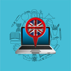 online education london graphic vector illustration eps 10