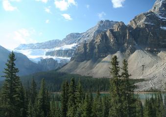 Crowfoot Glacier,hanging glacier
