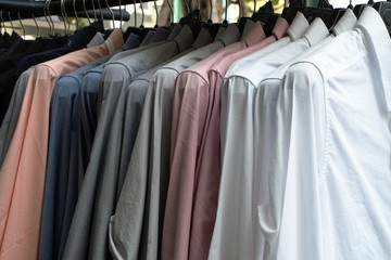 Group of shirts on a hanger