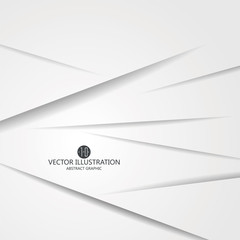 Triangular composition of abstract graphics, Vector illustration.