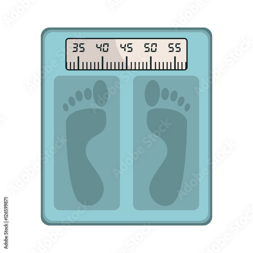 """""""bathroom Scale icon over white background, care and ..."""