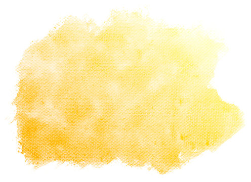 Abstract yellow watercolor on white background.This is watercolor splash.It is drawn by hand.
