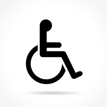 wheelchair icon on white background