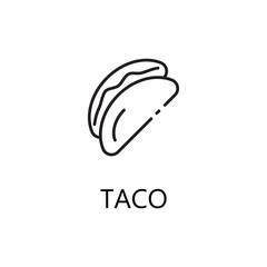 Taco line icon