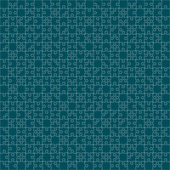 400 Turquoise Puzzles. Vector Illustration.