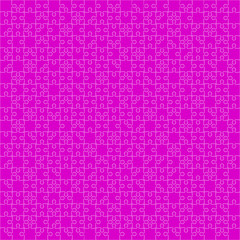 400 Pink Puzzles. Vector Illustration.