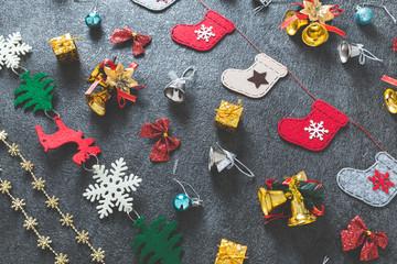 クリスマス ギフトイメージ フラットレイアウト