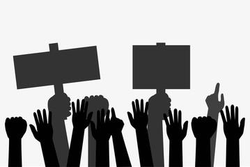 Illustration for Demonstration or Protest