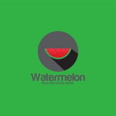 fresh watermelon fruit concept logo icon