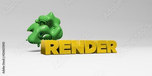 Render 3d Rendered Colorful Headline Illustration Can