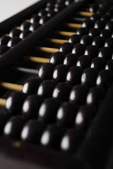 Close up of abacus.