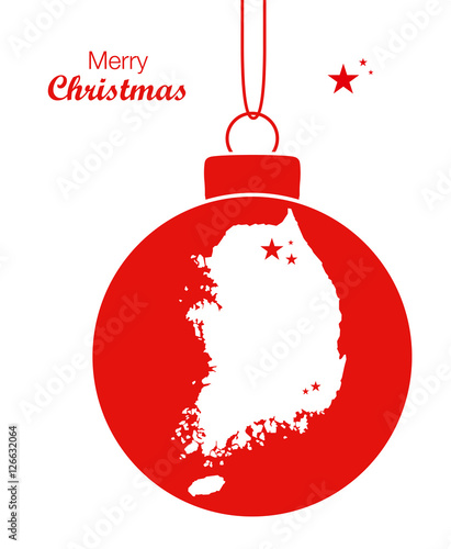 merry christmas map south korea stockfotos und. Black Bedroom Furniture Sets. Home Design Ideas