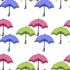 Photo sur Plexiglas Hibou seamless pattern with umbrellas on a white background