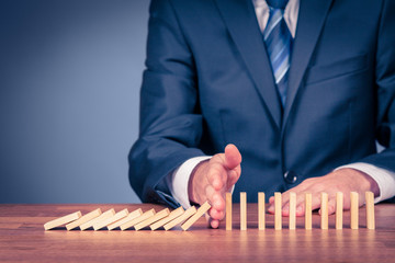 Stop domino effect and risk management