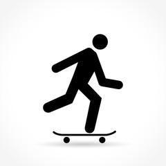 skateboard icon on white background