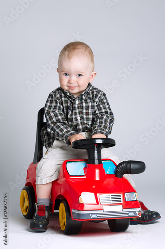 Little Boy With Toy Car : Quot little boy driving toy car stock photo and royalty free