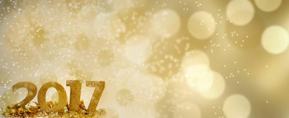 2017 nouvel an sur fond lumineux Fotomurales