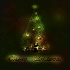Bright fir-tree