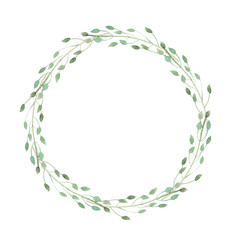 wreath of herbs isolate on white background