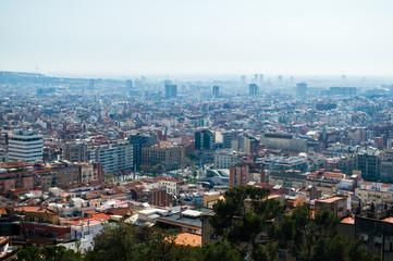 Barcelona cityscape skyline in Barcelona, Catalonia, Spain