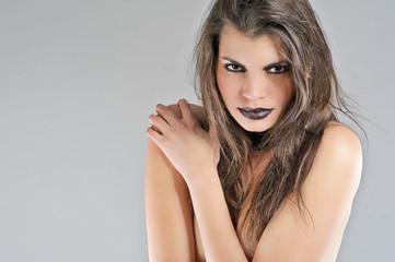 young beautiful sensual women portrait