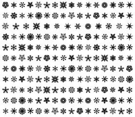 stickers stylized snowflakes