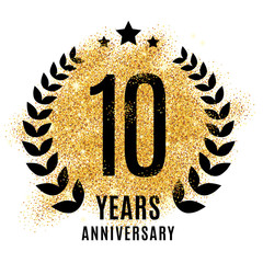 Ten years golden anniversary