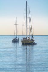 Barche nella baia di Villefranche