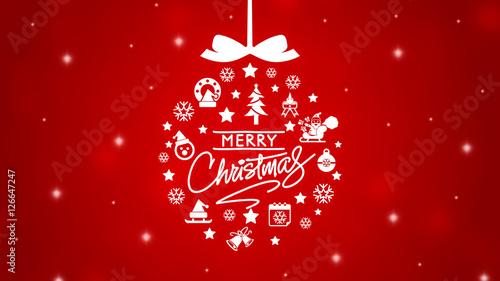 elegant merry christmas background - Merry Christmas Background