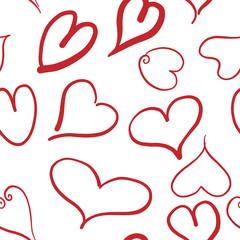 Pattern corazones rojos