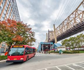 Roosevelt Island Bus and Queensboro Bridge, New York City