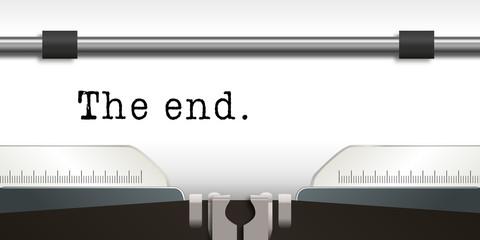 Machine à écrire - écrivain - The end