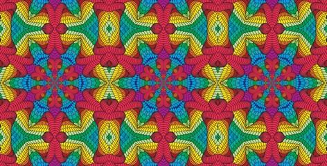 Kaleidoscopic multicolor seamless pattern