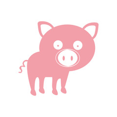 pig animal cartoon icon image vector illustration design