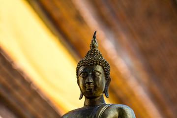 Buddha shining light gold asia From Thailand background