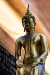 Buddha shining light gold asia