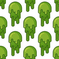 Snot seamless pattern. Snivel ornament. Booger background. Green