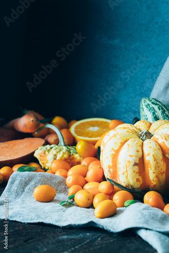 Autumn Orange Background Using For Wallpaper Toned Image