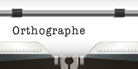 Machine à écrire - Orthographe
