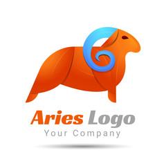 Aries Volume Logo Colorful. 3d Vector Design. Corporate identity