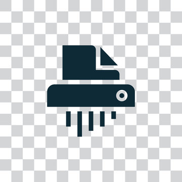 Shredder icon vector, clip art. Also useful as logo, app icon, symbol, transparent silhouette and illustration.