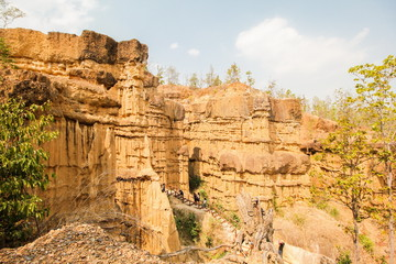 Pha Chor (Canyon), in national park which is Unseen Thailand at Chiangmai province, Thailand.